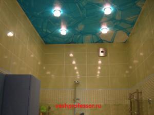 потолок в ванной 4