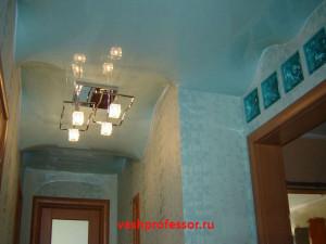 натяжной потолок в гостиной 4