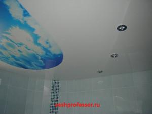 потолок в ванной 3